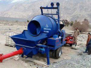 JB40R diesel concrete pump mixer pakistan