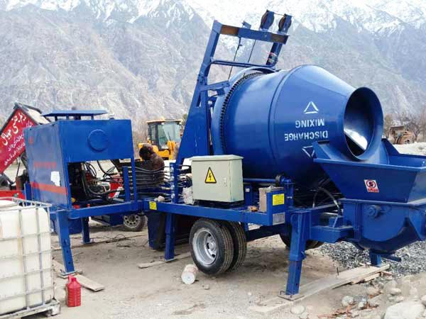 ABJZ40C diesel cement mixer pump