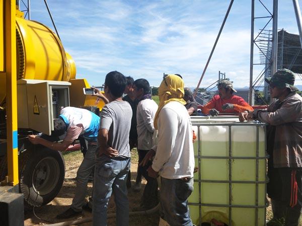 ABJZ40C diesel concrete mixer pump maintenance
