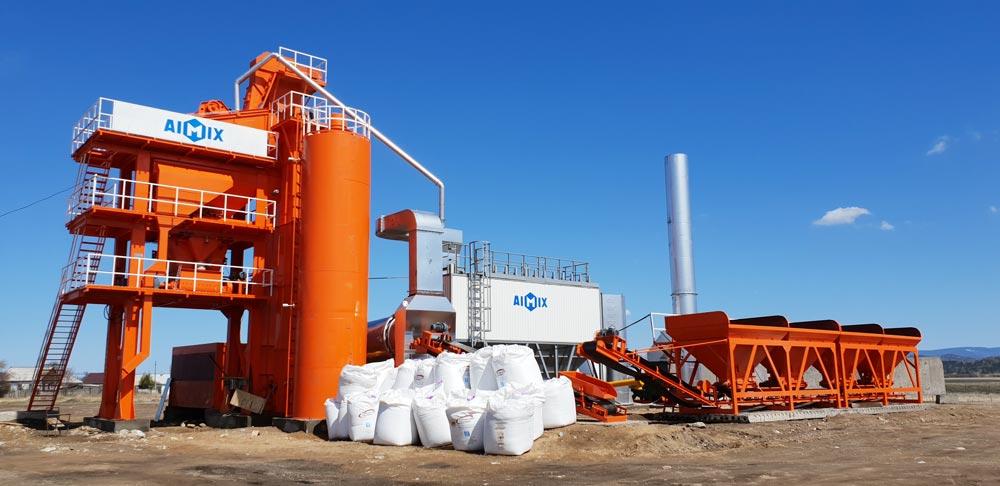 LB1000 stationary asphalt plant Russia