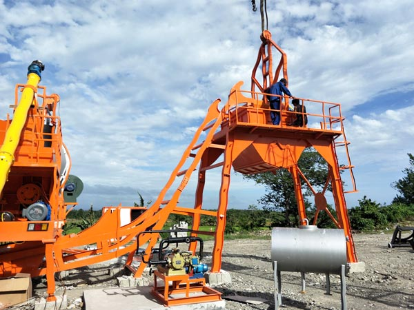 QLBY60 mobile drum mix plant
