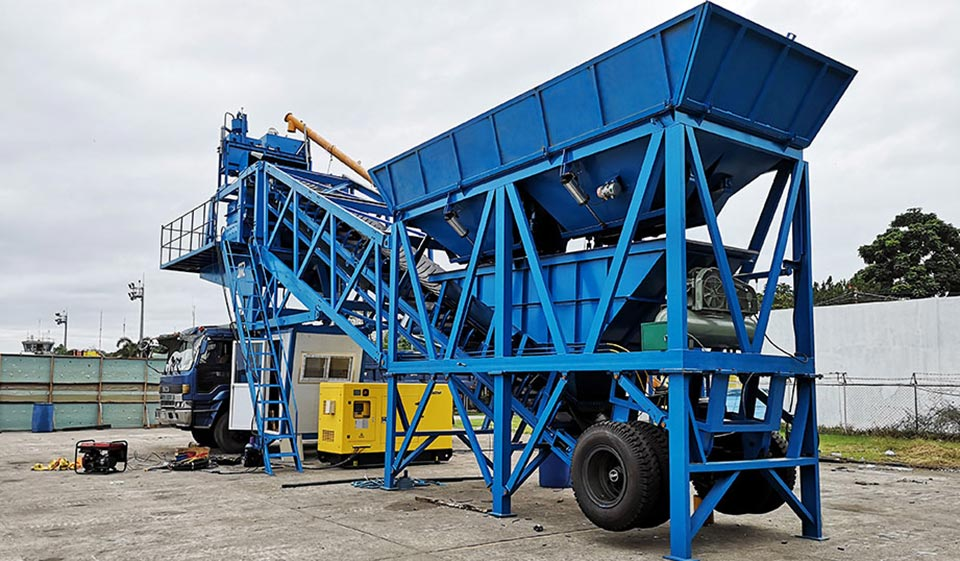 YHZS35 Mobile Batching Plant In Philippines