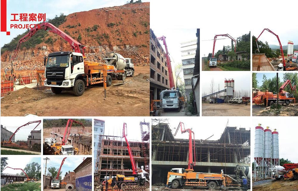 30m boom pump in working project