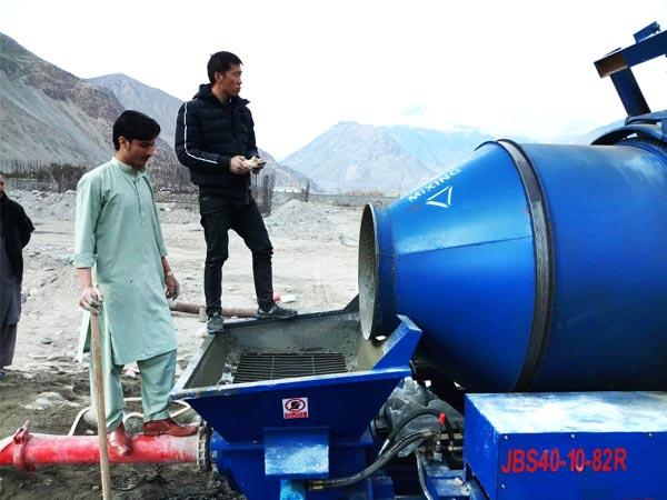 commission of concrete mixer pump