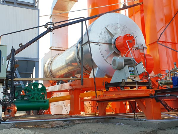 drying machine of asphalt plant