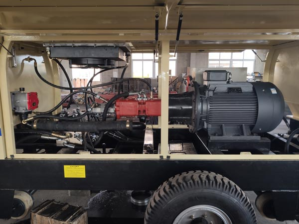 inner of concrete pump