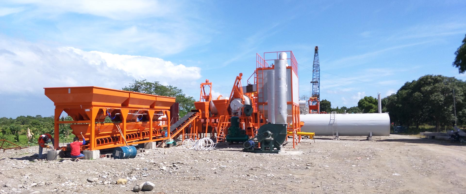 installation of asphalt plant in Philippines