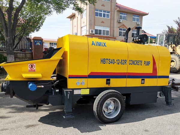 HBTS40-12-82R diesel trailer concrete pump