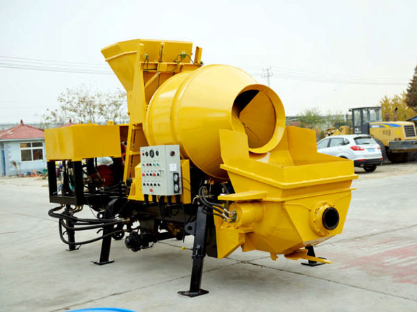 ABJZ30C diesel concrete pump with mixer