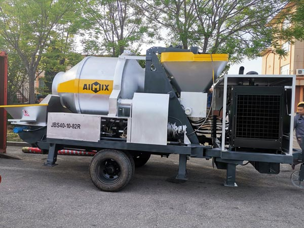 JBS40 concrete mixer and pump