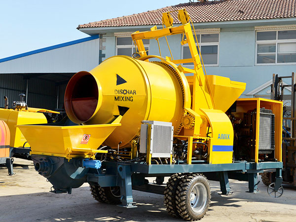 ABJZ40C concrete mixer pump with diesel engine