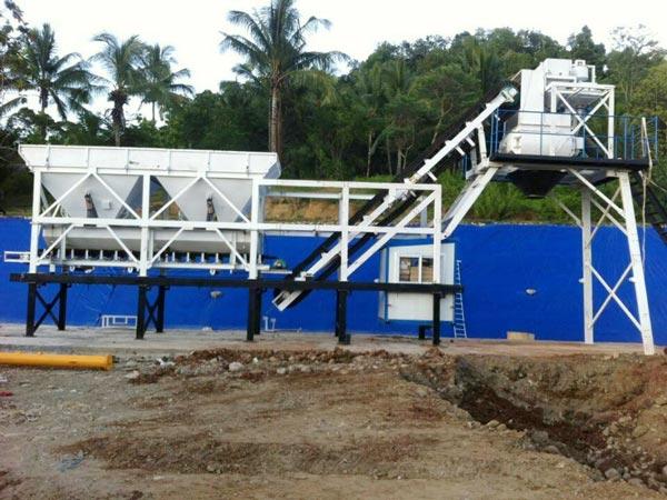 AJY-25 mobile concrete batching plant