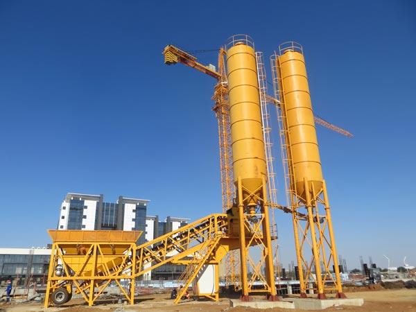 AJY-35 mobile concrete plant in Botswana
