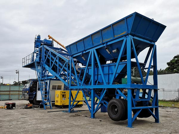 YHZS35 mobile plant in Philippines