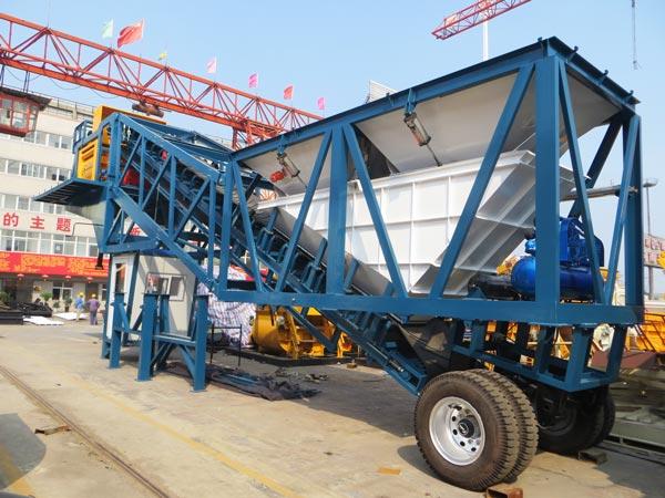 AJY-50 mobile concrete batch plant