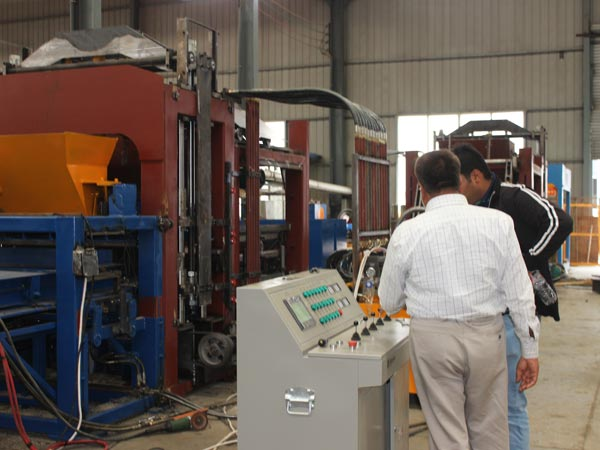 customer visit our machine
