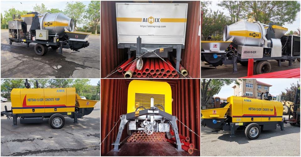 delivery of concrete mixer pump and trailer pump Pakistan