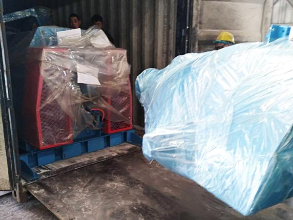 delivery of dry mortar mixer