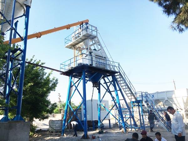 installation of HZS50 concrete plant