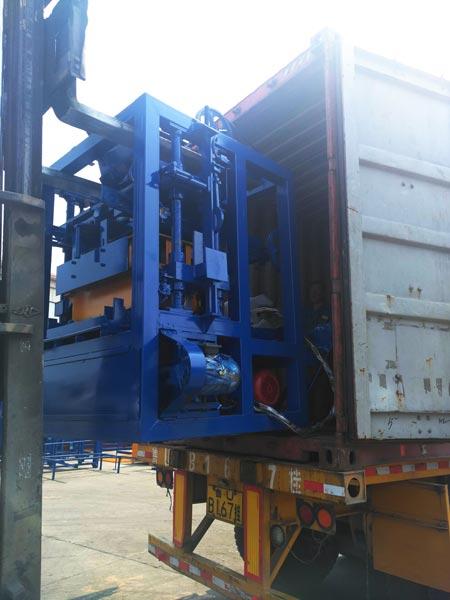 shipment of ABM-4S brick machine