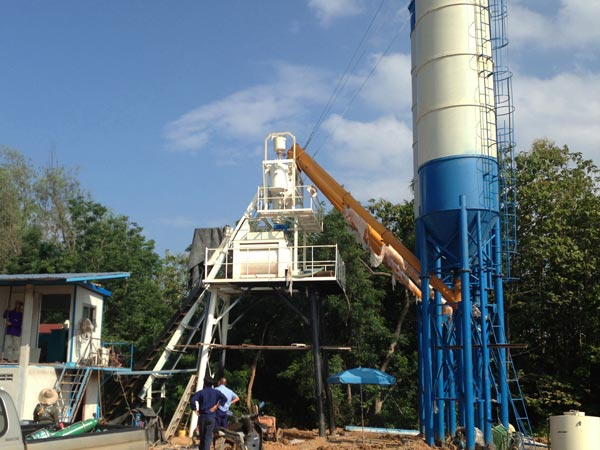 skip hoist and cement silo