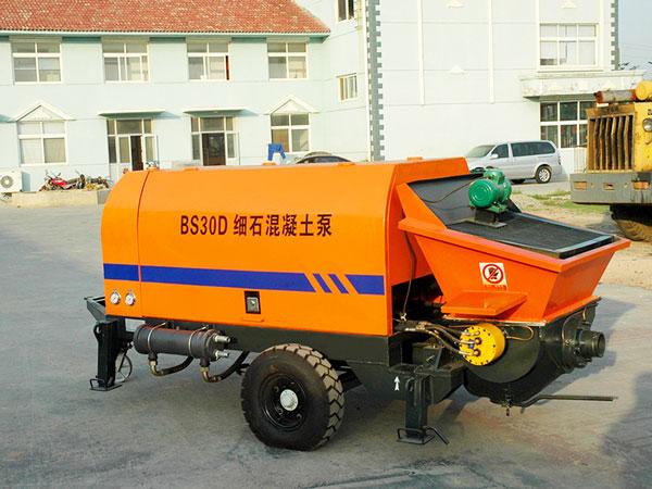 BS30D diesel static trailer concrete pump