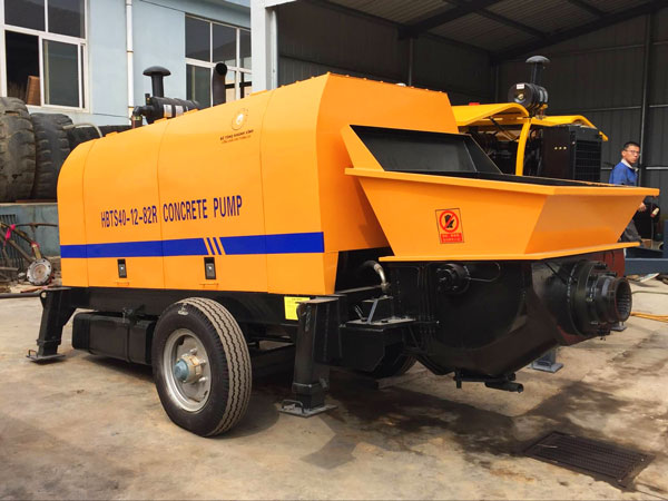 HBTS40 diesel station trailer concrete pump