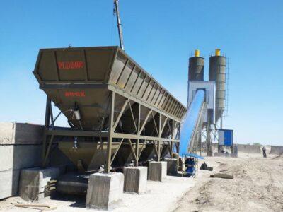 HZS90 belt conveyor stationary concrete plant
