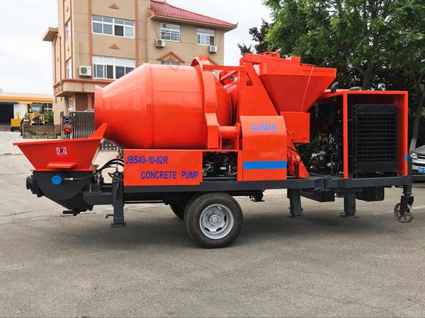 JBS40R diesel concrete mixer pump to Jordan