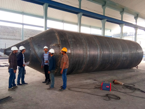 cement silo production in workshop