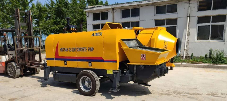 diesel concrete pump and diesel concrete mixer to Malaysia