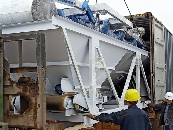 shipment of batching machine