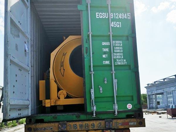 shipment of concrete mixer