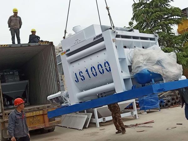 shipment of twin shaft mixer