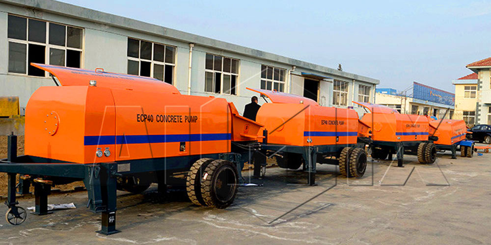 stationary concrete pump machine manufacturers