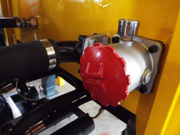 part of trailer pump