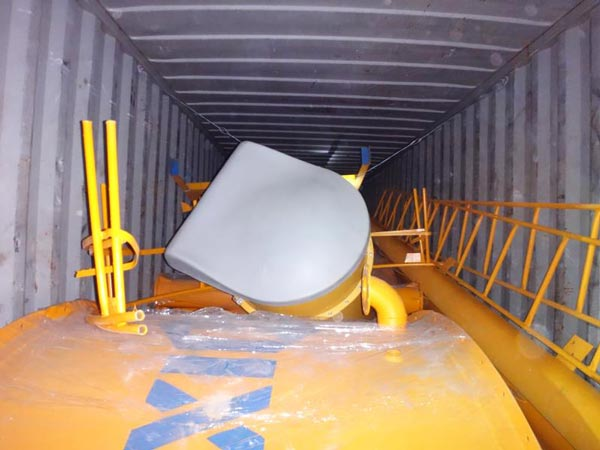 shipment of AJ-35 concrete plant
