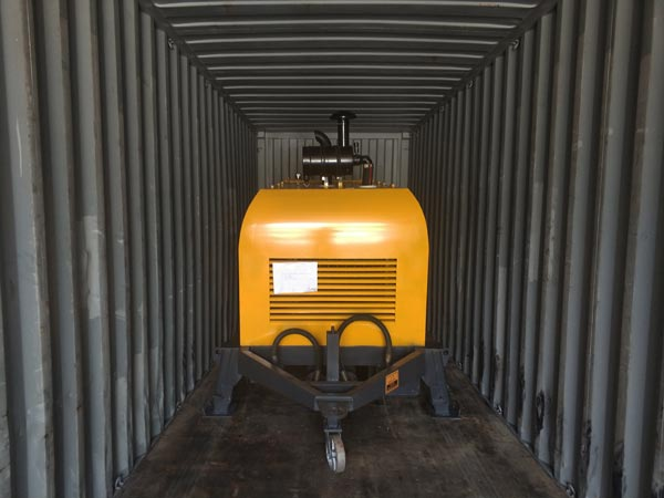 shipment of ABT40C concrete pump