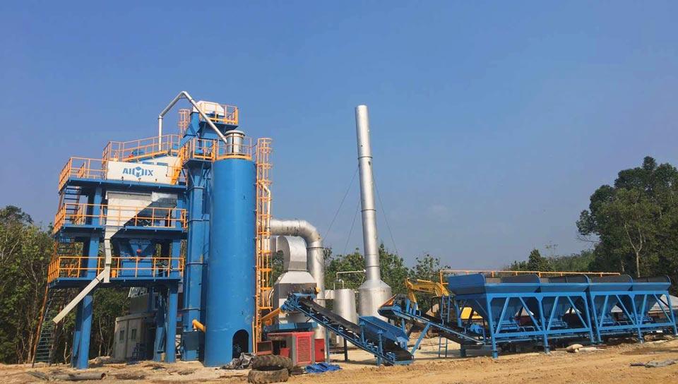 80t asphalt mixing plant Indonesia