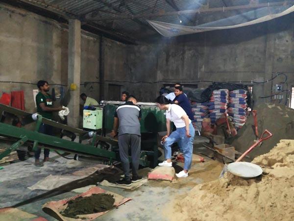 concrete block production in bd