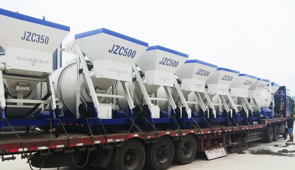 transport of 17 sets of concrete mixers