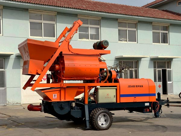 ABJZ40D-JS750 electric concrete mixer pump