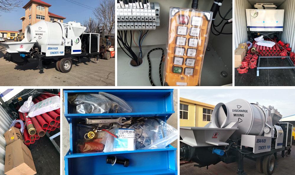 concrete mixer pump to Ecuador