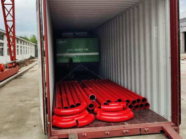 delivery of ABJZ40C concrete mixer pump