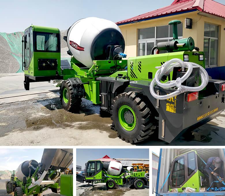 1.8 cub self loading concrete mixer to Namibia