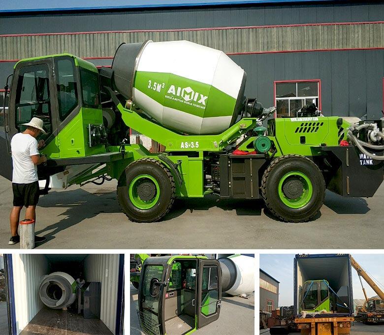 3.5 cub self loading concrete truck to Malaysia