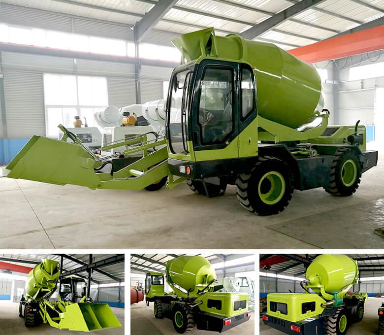 3.5 cub self loading mixer concrete to Zambia