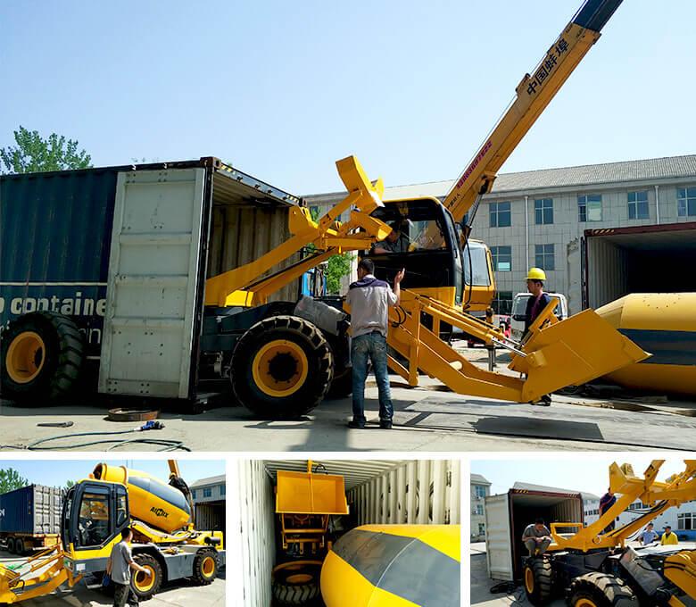 Misturador de concreto para terrenos acidentados com carregamento automático de 3.5 cub para a Tanzânia