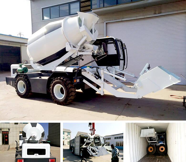 Misturador de transporte com carregamento automático de 3.5 cub para Maurício