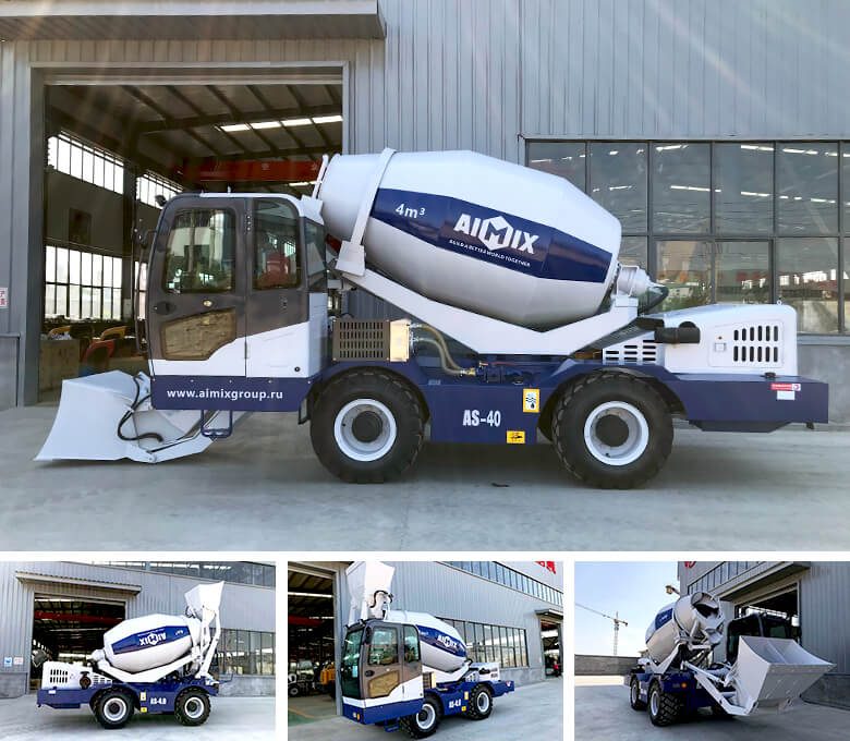 4 cub self loading concrete mixer truck to Uzbekistan